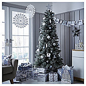 6.5ft Luxury Alpine Snow Christmas Tree