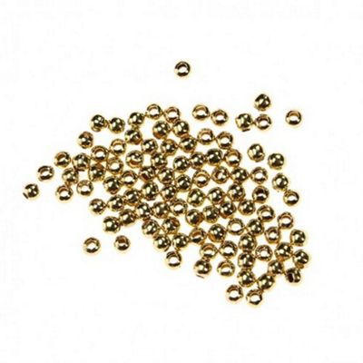 2mm Spacer Bead - Gold - 100 Pack