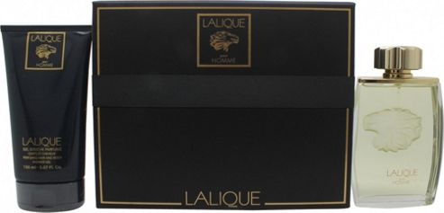 Lalique Pour Homme Lion Gift Set 125ml EDP + 150ml Shower Gel For Men