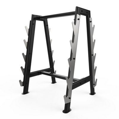 Hex Barbell Bar Storage Rack Stand Holds 10 Bars Gym Weight Rack