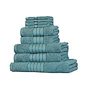 Dreamscene Luxury Egyptian Cotton Towel Bale 9 Piece Set - Teal