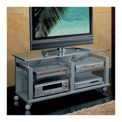 Triskom Wooden TV Stand for LCD / Plasmas - Silver