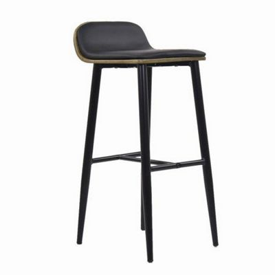 Bonn Wooden Bar Stool Black