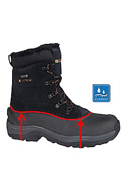 Mountain Warehouse Mens IsoDry Waterproof with Snow Boots and Suede Upper Design - Black