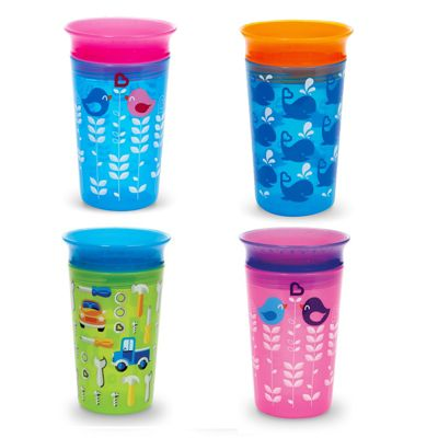 Munchkin Miracle Deco Sippy Cup│360° Degree Edge│9oz/266 ml│BPA-free│Multi Color