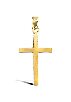 Jewelco London 9ct Solid Gold light weight Cross Pendant