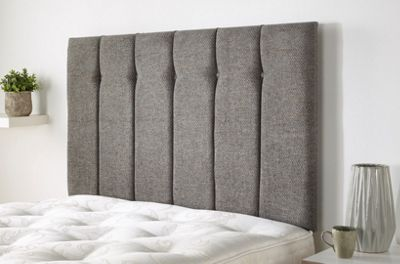 Galloway Headboard in Wallace Twill - Grey - Doube (4ft6)