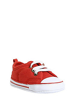 F&F Canvas Lace-Up Trainers - Burnt Orange
