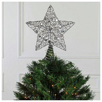 Tesco Glitter Star Light Up Christmas Tree Topper