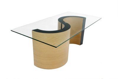 Monaco Coffee Table - Oak - Black
