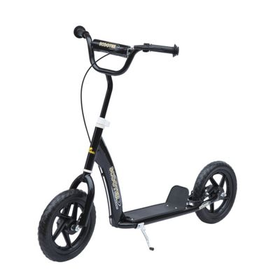 Homcom Adult Teen Push Scooter - Black