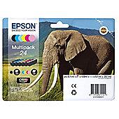 Epson 24 Multipack Ink cartridge - 6-pack Black, yellow, cyan, magenta, light magenta, light cyan
