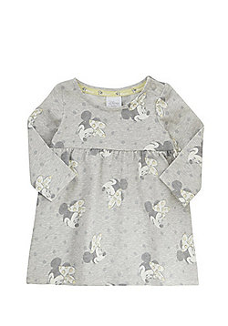 Disney Minnie Mouse Print Jersey Smock Dress - Grey