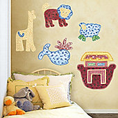 Patchwork Animal Giant Wall Stickers