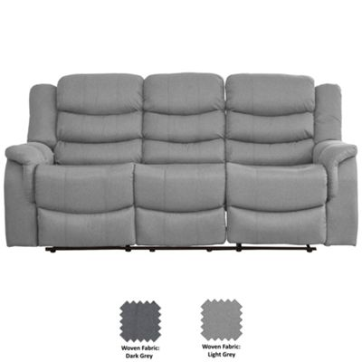 Sofa Collection Moselle Recliner Sofa - 3 Seat - Light Grey