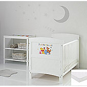 Obaby Disney Inspire Winnie the Pooh 2 Piece Room Set/Sprung Mattress/Changing Mat - Pooh and Friends