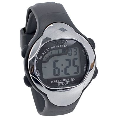 Precision Waterproof Wristwatch Large Display Abs Case Pvc Strap Watch