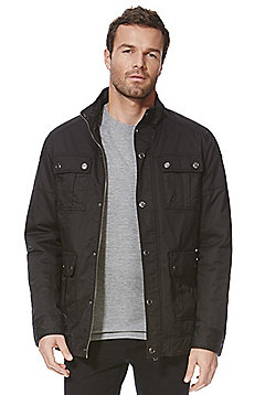 F&F Waxed 4 Pocket Jacket - Black