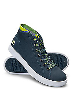 Zakti Boys Kids Re-boot High Top Trainers w/ Memory Foam Insoles & Ripstop Upper - Blue