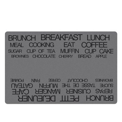Galzone Grey Text Placemat