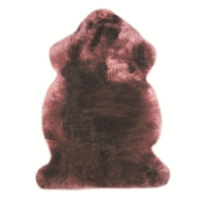 Bowron Sheepskin Long Wool Gold Star Rug in Chocolate - 180cm H x 60 cm W (Two Piece)