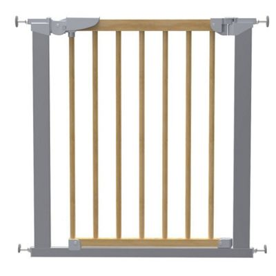 Safetots Beechwood and Metal Pressure Gate with No Trip Plate