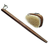 Hydrea Walnut Wood Bath Brush