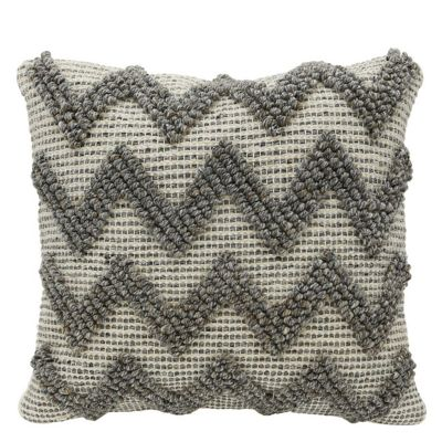 Grey Zig Zag bobbly Cushion