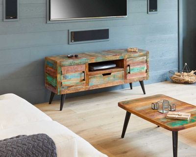 Baumhaus Coastal Chic Widescreen TV Cabinet for up to 65 inch TVs
