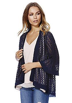 Mela London Lace Kimono - Navy