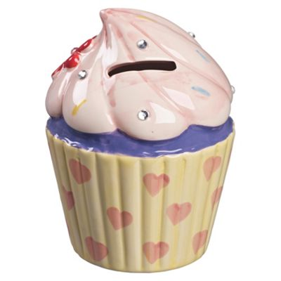 Cupcake Money Box with Flower