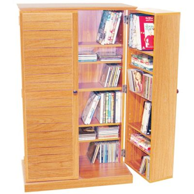 Techstyle CD / DVD / Blu-ray / Video Multimedia Storage Cabinet - Beech