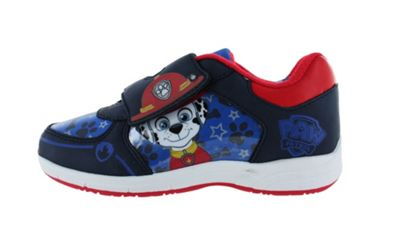 Boys Paw Patrol Top Pups Blue Canvas Trainers Childrens Shoes UK Size 5