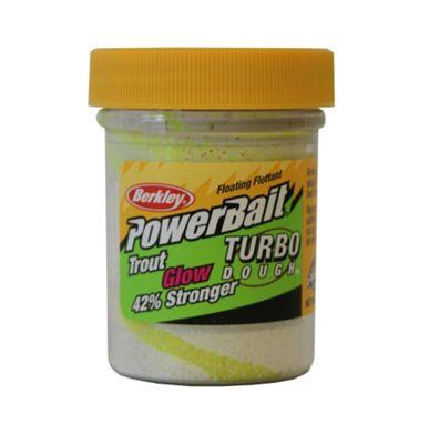 Berkley Powerbait Glow in the Dark Troutbait - Yellow/White Glow Twin Pack