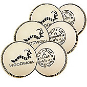 6 X Woodworm Junior Special 4 3/4Oz Cricket Ball White