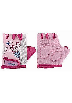 Kidzamo Protective Cycle Glove / Mitt with Pink Flowers Design