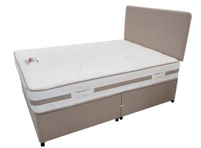 Land of Beds Lomond Small Single Non-Storage Divan in Oatmeal