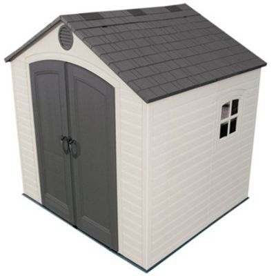 8 x 7.5 Life Plus Plastic Apex Shed with Plastic Floor and 1 Window (2.43m x 2.28m) 8ft x 7.5ft