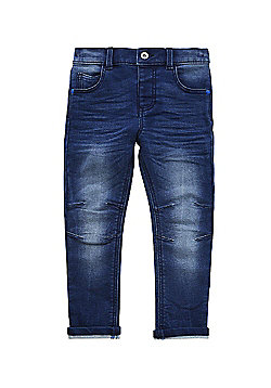 F&F Loopback Articulated Knee Slim Fit Jeans - Blue