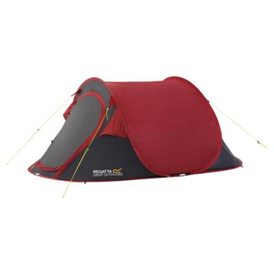 Regatta 2-Man Malawi Outdoor Pop-Up Tent Red