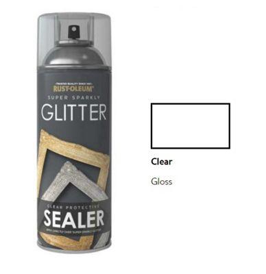 Rust-Oleum Glitter Finish Spray Paint - 400ml - Clear Gloss Sealer