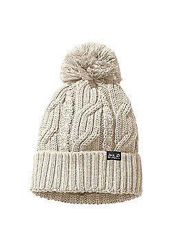 Jack Wolfskin Stormlock Pom Pom Hat - Off white