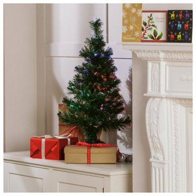 Tesco Fibre Optic Christmas Tree, 2.5ft