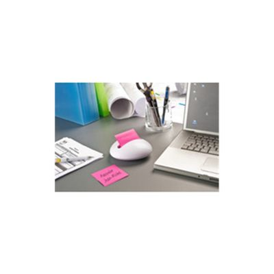 3M Post-it Note Pebble Dispenser Neon Pack of 12 White/Neon PBL-W12