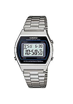 Casio B640WD-1AVEF Classic Digital Watch with Stainless Steel Band - Silver