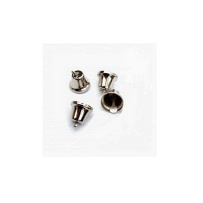 Craft Factory Silver Liberty Bells 14mm Pack of 100