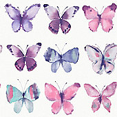 Butterflies Wallpaper - Pink - 273618