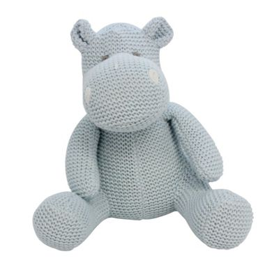 Blue Knitted Hippo