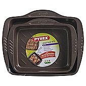 Pyrex Asimetria Non Stick Roaster 30cm & 26cm set