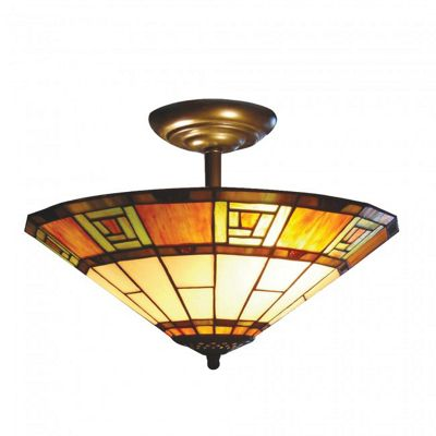 Egyptian Tiffany Semi Flush Uplighter
